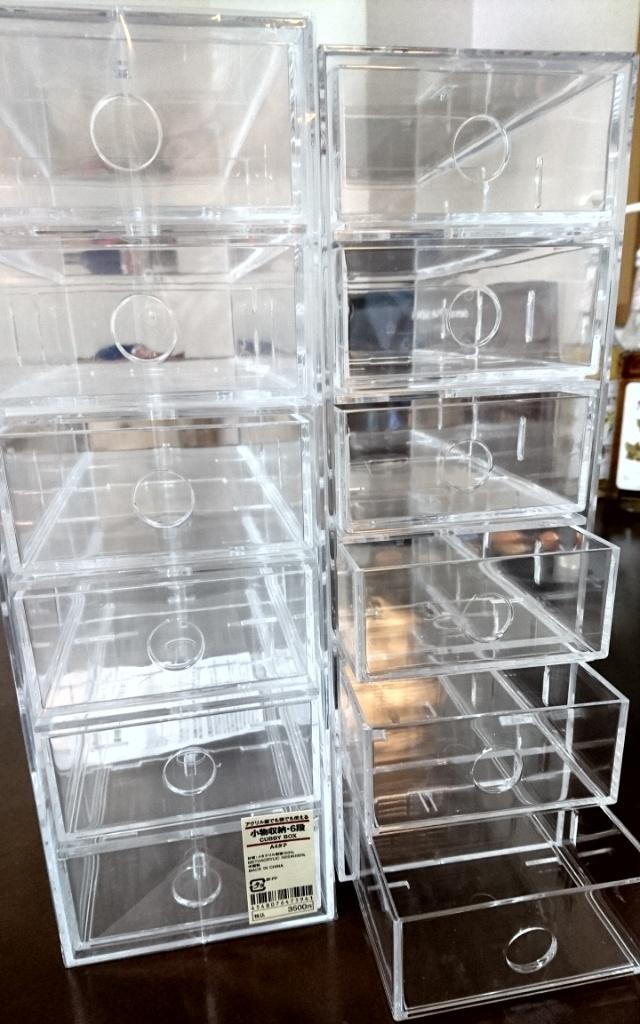 「アクリル縦でも横でも使える小物収納6段」 3500円×2個